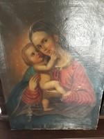 Mária a kisdeddel osztrák 1800 körül