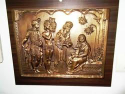 Három királyok köszöntik a megszületett kis JÉZUST
