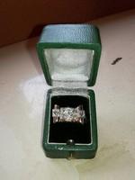 Perudzzi csiszolású gyémánt gyűrű 1800-as évek végéről. Őssz 1 karát.