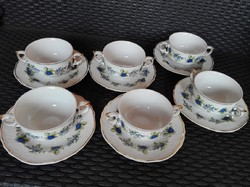 Hollóházi porcelán - szedres készlet