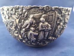 Antik ezüst tál- régi ötvös munka+ 1 AJÁNDÉK