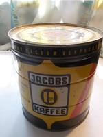 Régi Jacobs Caffe kávés fémdoboz pléh doboz