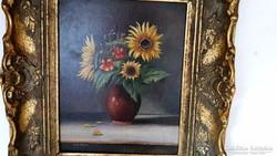 Sürgősen ELADÓ!!!!   E. Kröll antik festmény, antik keretben!!!!!    LEÁRAZVA!!!!
