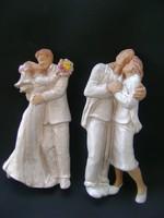 Ritka mázas terrakotta szobor párok, szerelmespár és már az ifjú pár