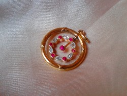 Antik gyémántokkal-rubinokkal örökkévalóság 585/14kr.arany medál.