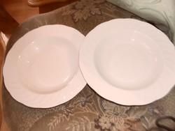 Német szép fehér tányér mély 2 darab