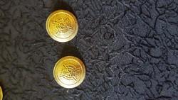 "Bronz gomb 2,2 cm ""GOLF CLUB 1991 "" felirattal"
