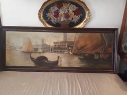 Velence olaj vászon festmény jelzett 180x 75cm