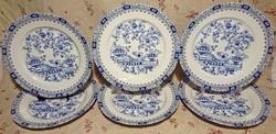 6db BAVARIA GERMANY Kék logós nagy méretű hullámos peremű lapos tányér,kék díszítéssel.