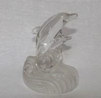 RcR kristály delfinpár jelzett