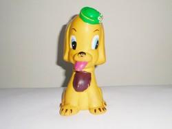 Retro gumi sípolós játék figura - kutya kutyus