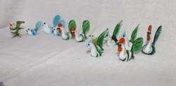 Üveg mini figurák kézzel készített 12 db