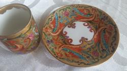 Zsolnay antik különleges kávéscsésze aljával