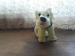 Antik  fújt üveg kutyus