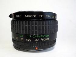 2 x Nas macro Teleplus MC7 objektív