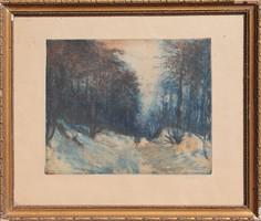 Élesdy István: Téli erdő