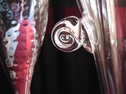 Elegáns üveg pezsgős vödör