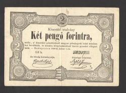 Két pengő forintra 1849.   GYÖNYÖRŰ!!