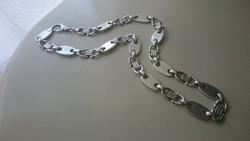 Ezüst nagyméretű tömör vastag széles különleges nyaklánc 925