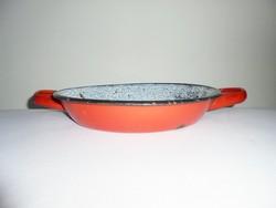 Retro zománcozott szeletsütő serpenyő - 24 cm - Bonyhád