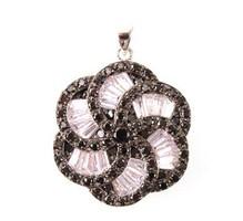 Dekorativ Ezüst 925 Medál fekete és fehér cirkónia kövekkel