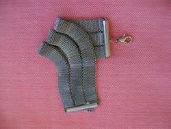 Olasz acél cápa mintás karlánc 35,7 mm széles