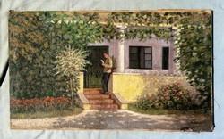 Antik festmény, R Molnár szignóval !