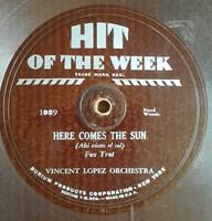 """Hit of the week hajlékony lemez 10"""" 78rpm fordulatszámú 1930-as években USA -ban készült No:1089"""