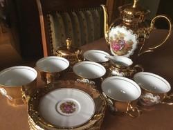 Kuriózum porcelán teás, seltmann weiden, 6 személyes (38)