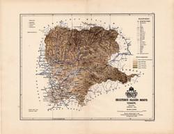 Beszterce - Naszód megye térkép 1888 (2), Magyarország, vármegye, régi, atlasz, eredeti, Kogutowicz