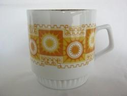 Zsolnay porcelán retro napocskás bögre