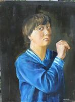 Medveczky Jenő: Római iskola ( Matróz ) Olaj,farost.