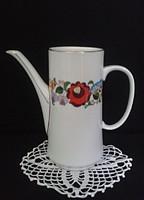 AKCIÓ!!! Kalocsai porcelán kávé kiöntő kanna
