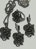 Női vintage ékszerszett  ,tibeti ezüstből.