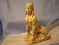 Mitológiai szobor mázas fényes terrakotta ritkaság 22cm