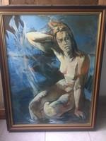 Bér Rudino: Chile című festménye 60 x 80