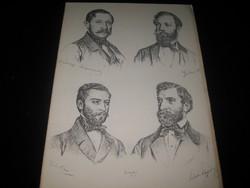 Barabás Miklós litografia  a Hölgyyfutárban  1855 ben  megjelent  sorozatból
