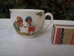 Régi Német aranyozott gyerek csésze 1,5 dl