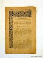 1920 június július augusztus  /  RÓZSAFÜZÉR KIRÁLYNÉJA  /  RÉGI EREDETI ÚJSÁG Szs.:  5489