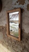 38*57-es felújított ablakkeret, tükör, pipere, antik, vintage, dekor design