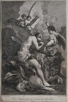 Barokk rézmetszet, 18. sz. Márk evagélista