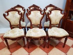 Antik kárpitos székek 6 db