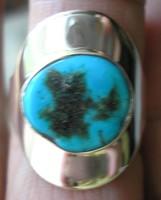 925 ezüst gyűrű, 18,3/57,5 mm, arizóniai türkizzel