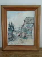 Több mint 100 éves gyönyörű akvarell