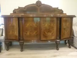Antik barokk / neo-barokk stílusú tálalószekrény