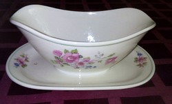 Antik, porcelán fajansz szószos  Tielsch-Altwasser gyártmány