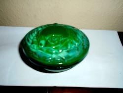 Malahit Bohémia üveg bonbonier