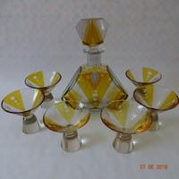 Art Deco Siebert & Marquardt kristály likőrös