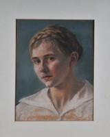 Ismeretlen festő: Leányportré,