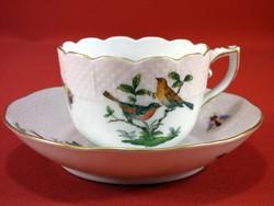 Herendi Rothschild kávéscsésze+tányérja